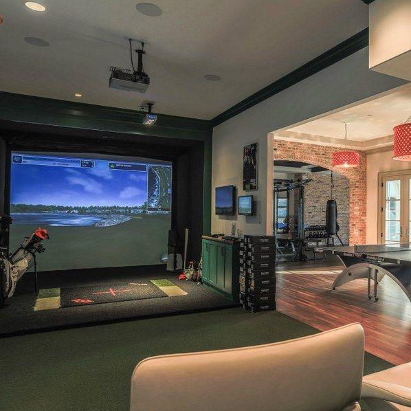 Best Golf Simulators House Interiors Golf Room Gym