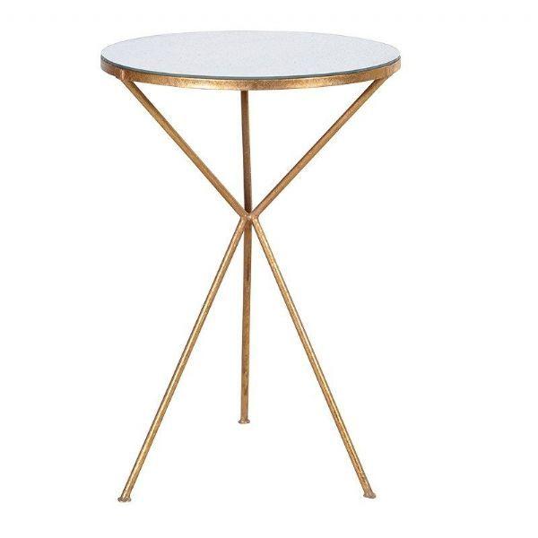 Gold Tripod Table Woodpecker Interiors