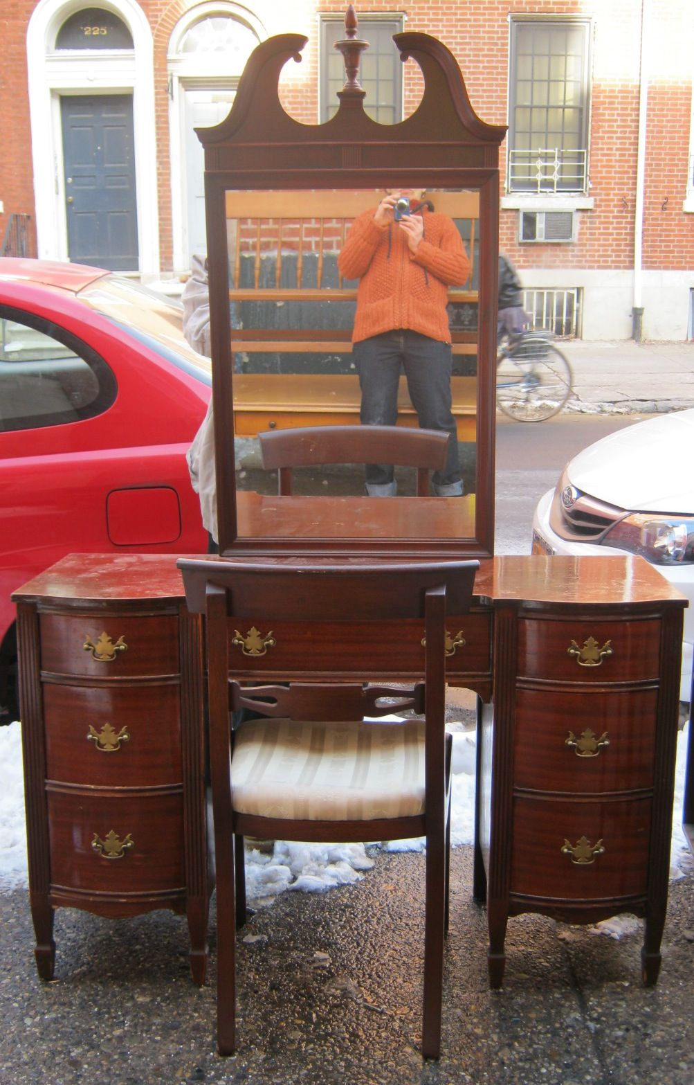 1940s Furniture 1940s Mahogany Vanity W Mirror Sold