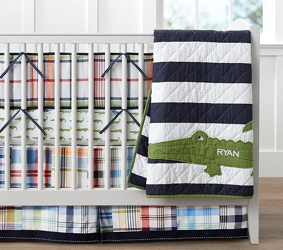 Alligator Madras Nursery Bedding Pottery Barn Kids