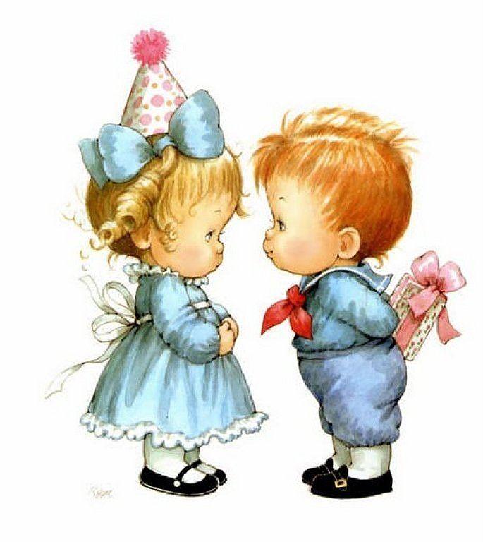 Открытки с днем рождения для двойняшек мальчика и девочки
