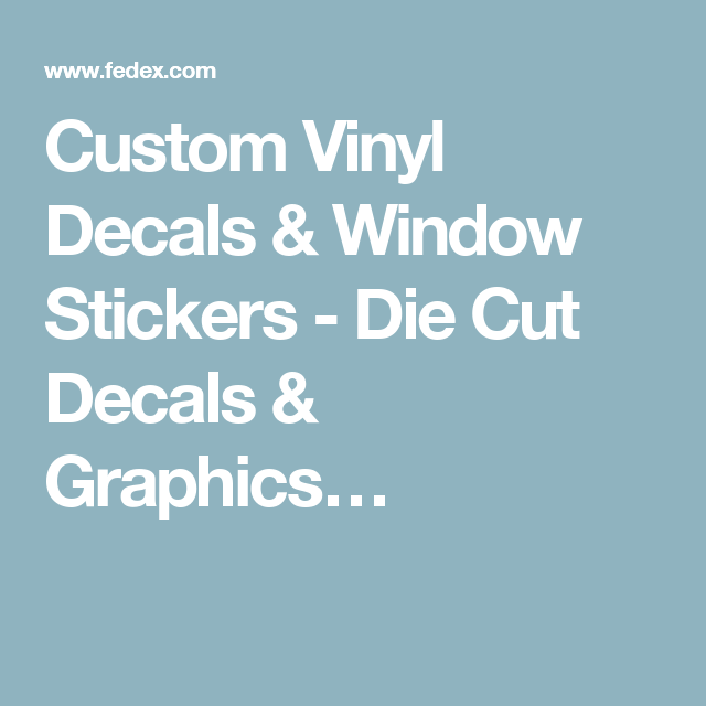 Custom Vinyl Decals Window Stickers Die Cut Decals Graphics - Custom die cut vinyl stickers how to apply