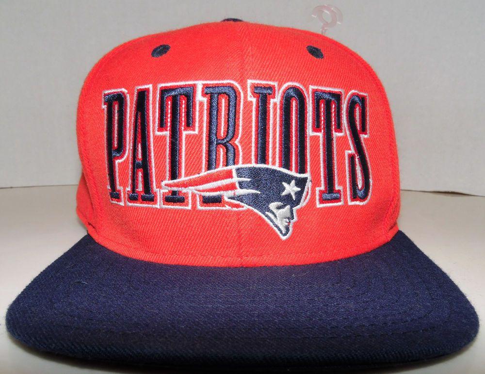 New England Patriots NFL Football Reebok Brand Flat Brim Big Logo Snapback  Hat c1ce0f89a4df