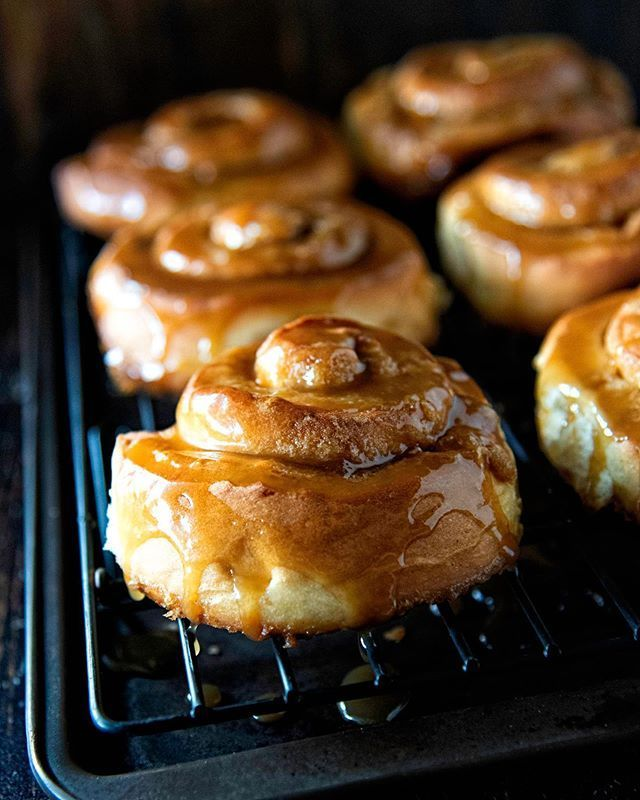 Croissant Bread Pudding with Pecan Toffee Sauce  Rolls  Breads