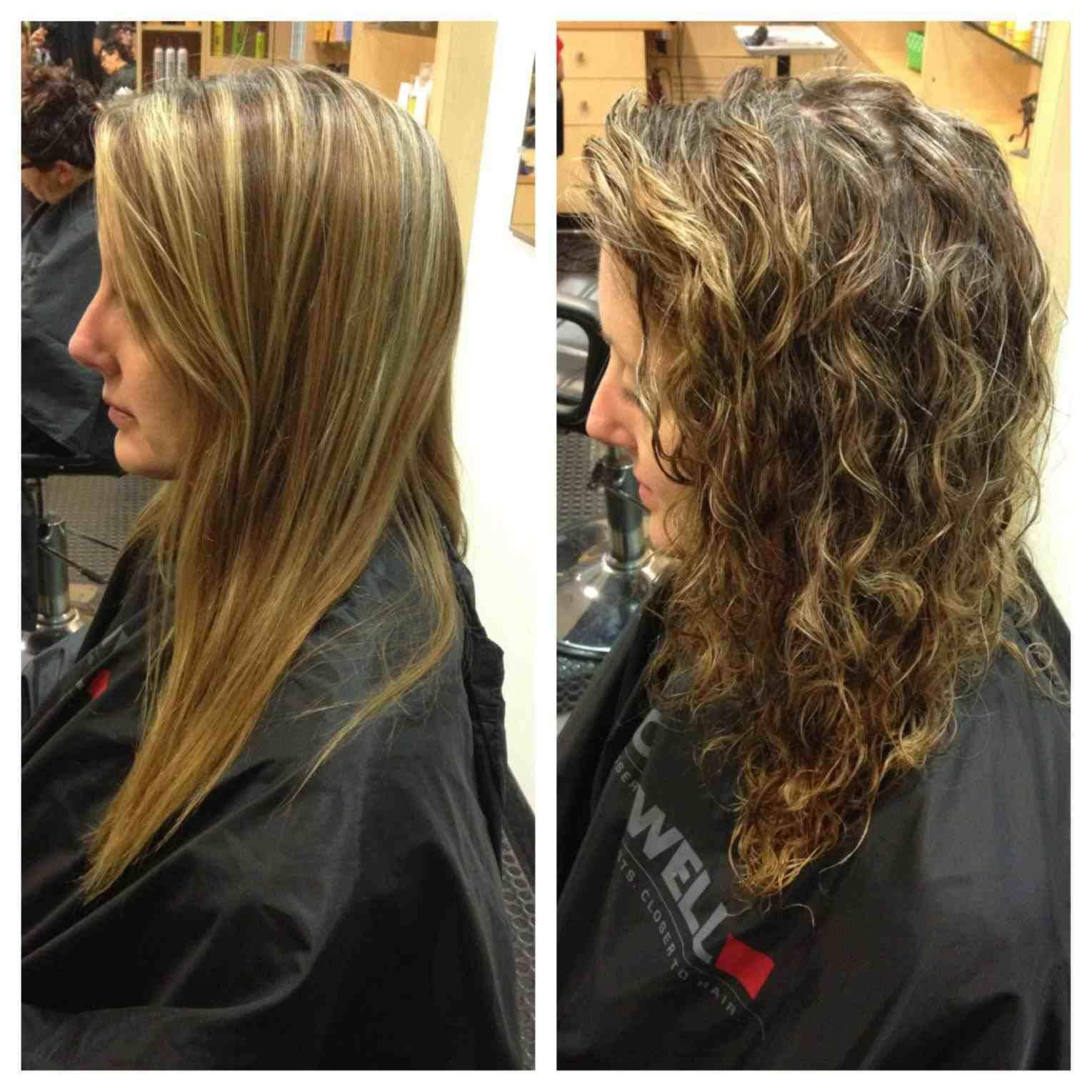 Image Result For Loose Spiral Perms Before And After Permed Hairstyles Body Wave Perm Wave Perm