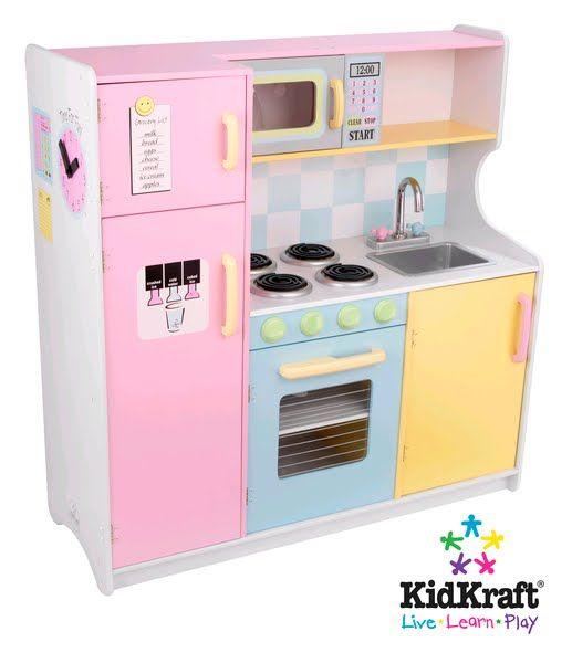 kidkraft toy play kitchen childrens wooden dolls house toy garage
