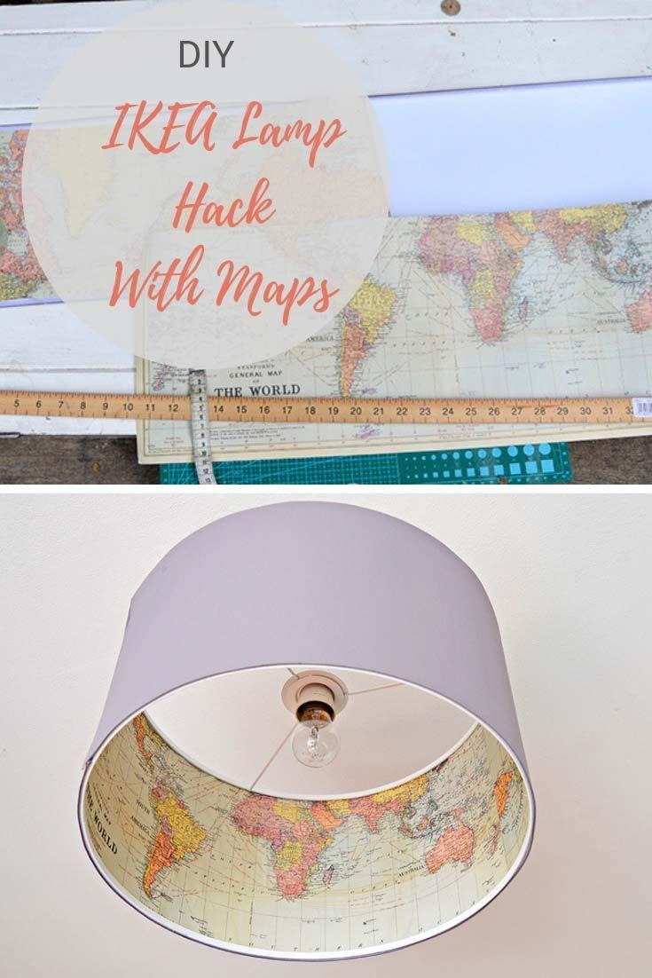 Lampshadecrafts Lamp Qdsthcr The Best Rismon Map Ikea Hack 80wyvmNnO