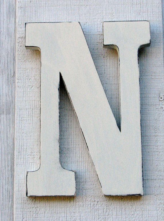 3 d large wooden letter n 12 inch tall by borlovanwoodworks 2800