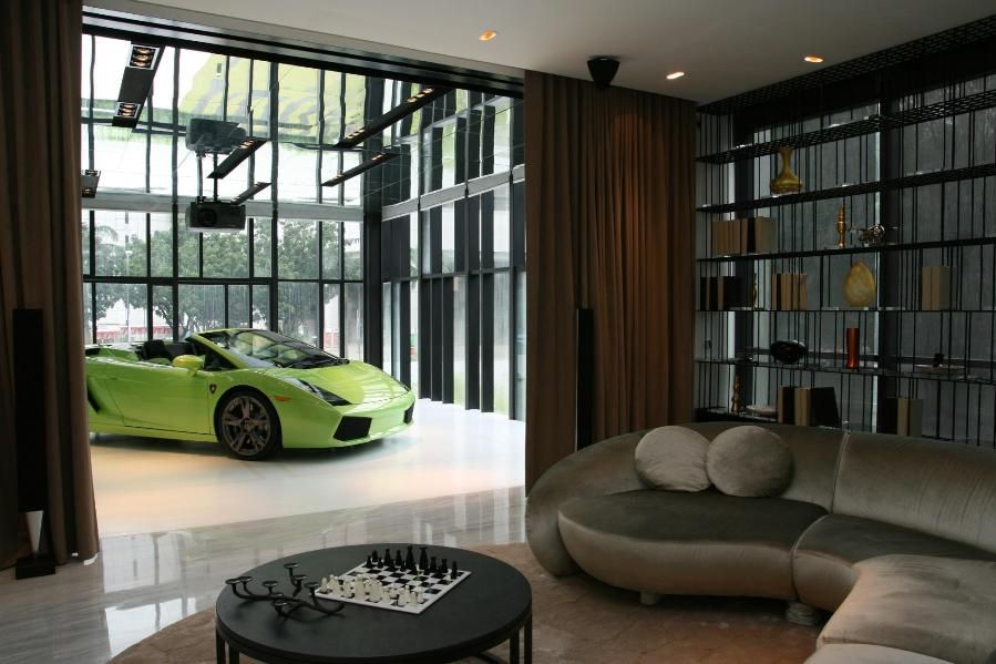 Lamborghini in the house