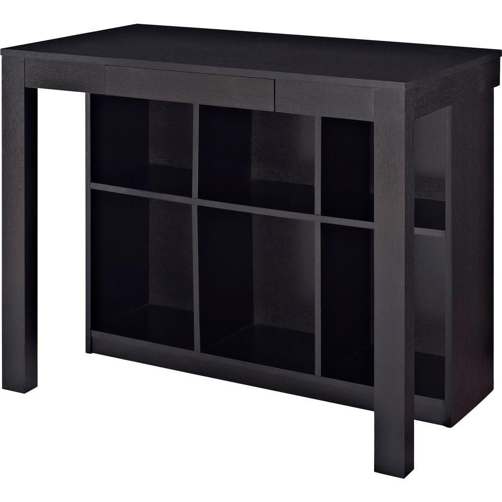 Altra Furniture Parsons Black Oak Desk