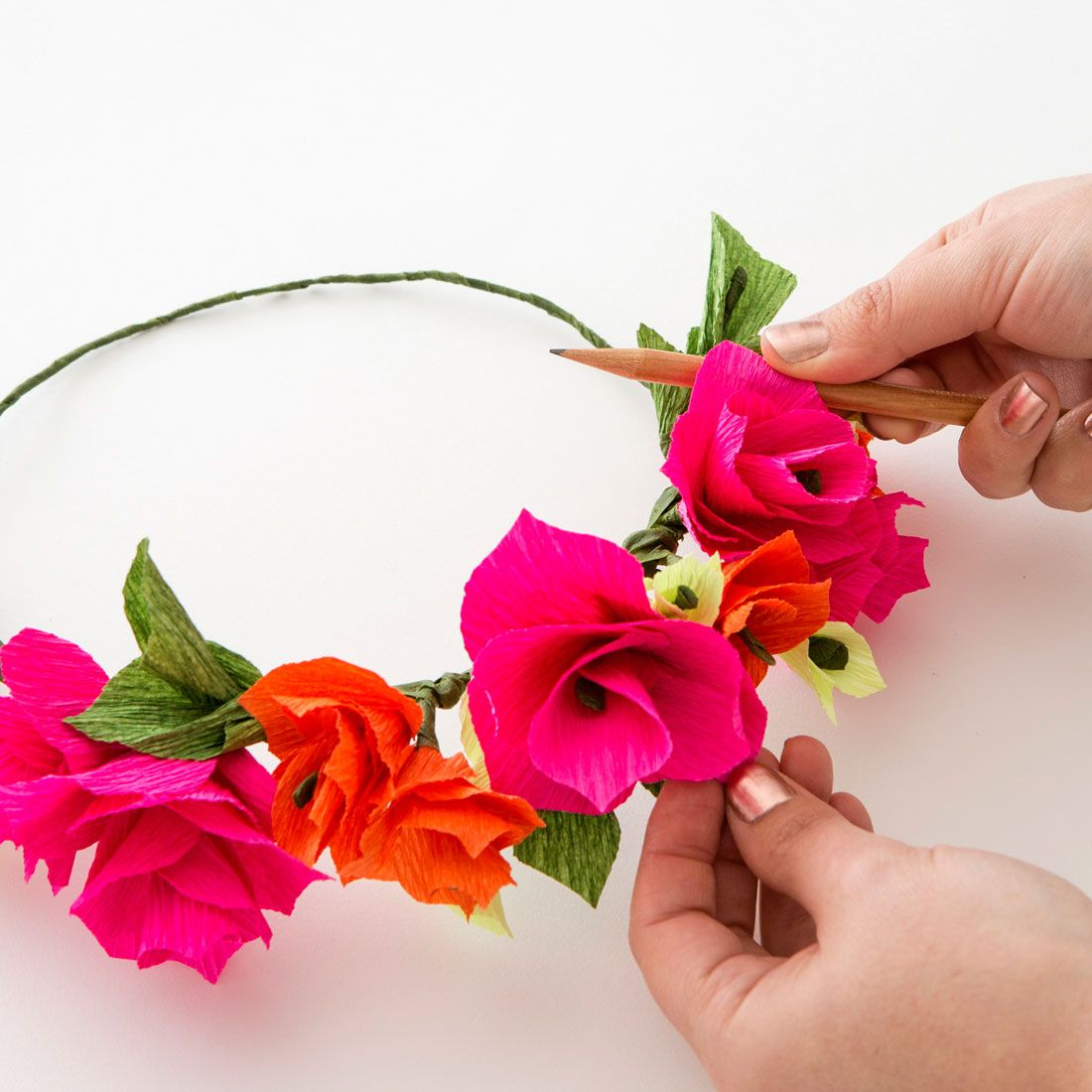 Paper Flower Crown1 Learn To Make Your Very Own Floral Creations