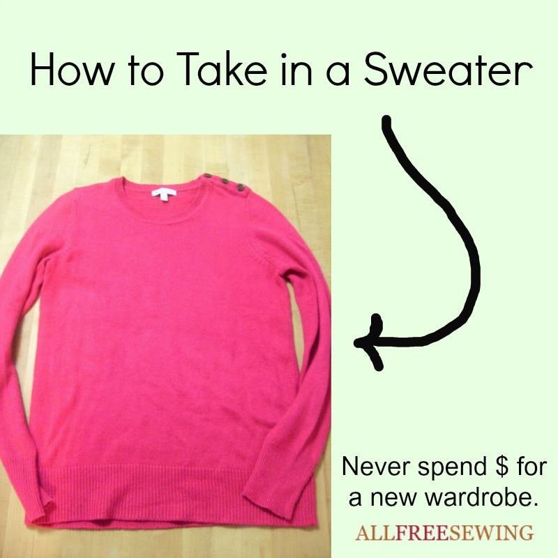 How to Take in a Sweater is part of Upcycle Clothes That Dont Fit - Sometimes you buy sweaters that don't exactly fit  By learning How to Take in a Sweater you can customize all your clothes so they fit nicely  Follow these guidelines and they turn those frumpy sweaters into your goto tops