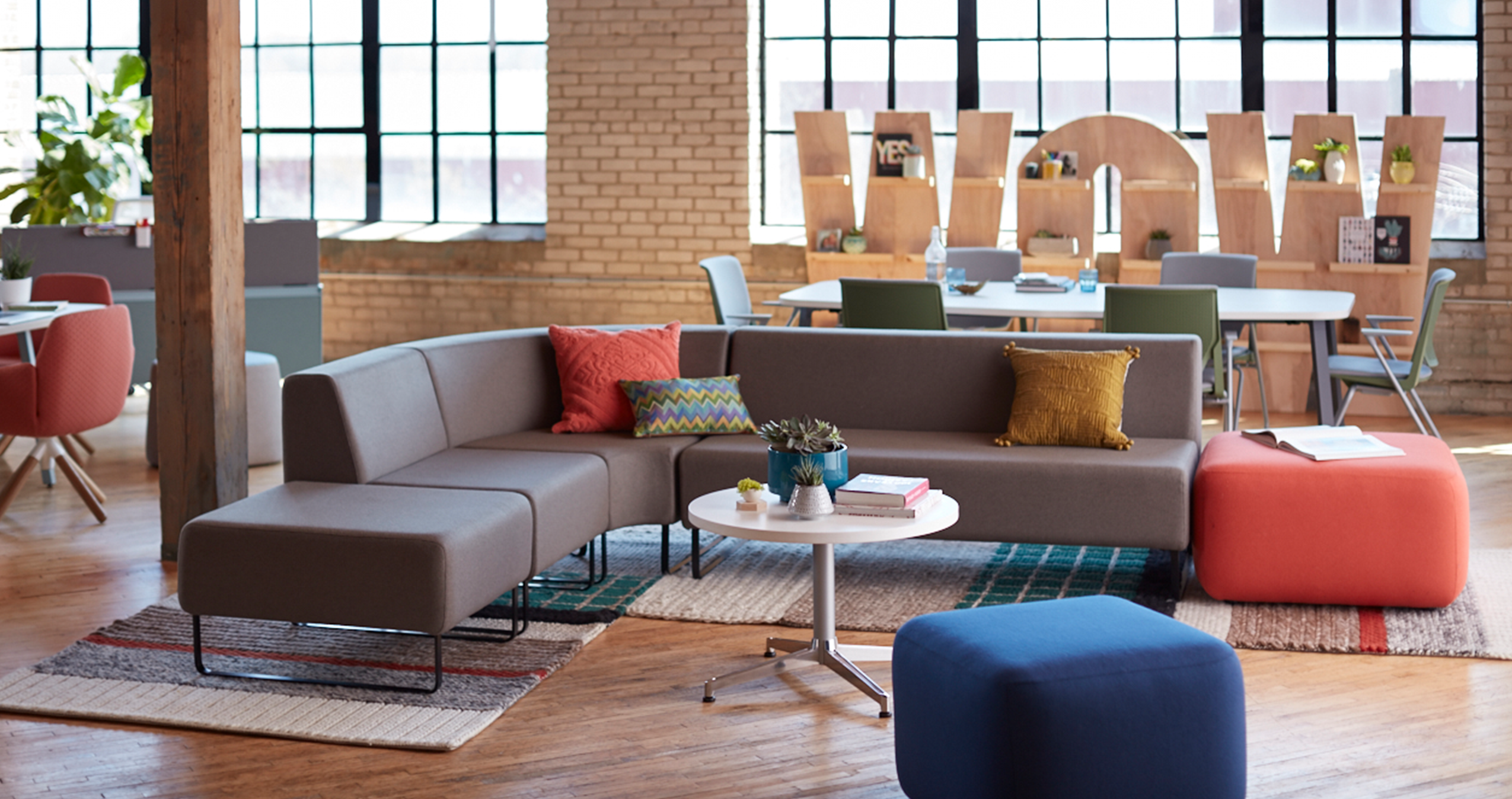 Fantastic Haworth Riverbend Lounge And Pebble Ottoman Are Solutions Ibusinesslaw Wood Chair Design Ideas Ibusinesslaworg