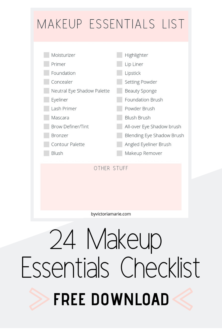 Makeup Essentials Checklist 24 MustHave Beauty Products