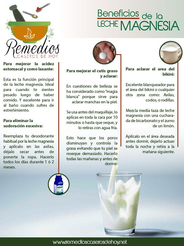 leche de magnesia propiedades