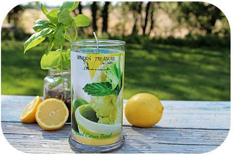 Cool Citrus Basil Mystery Candle