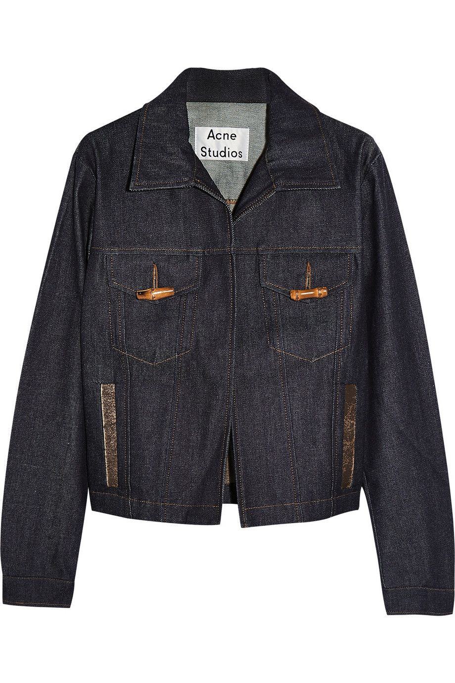 91b461854c0a Acne Studios   Veste en jean avec finitions en cuir North Raw   NET ...