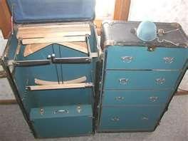 Vintage HARTMANN STEAMER WARDROBE TRUNK Closet Luggage For Sale