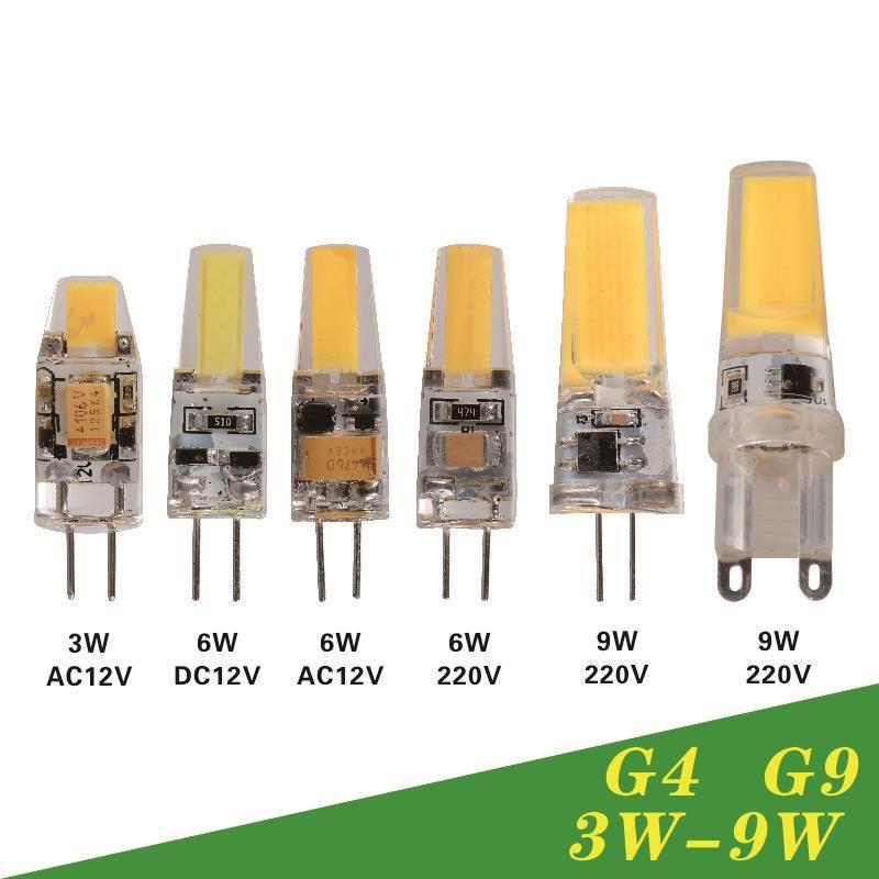 Dimmable led lamp g4 g9 ac dc 12v 220v 3w 6w 9w cob led bulb mini g4 dimmable led lamp g4 g9 ac dc 12v 220v 3w 6w 9w cob led bulb mini chandelier aloadofball Image collections