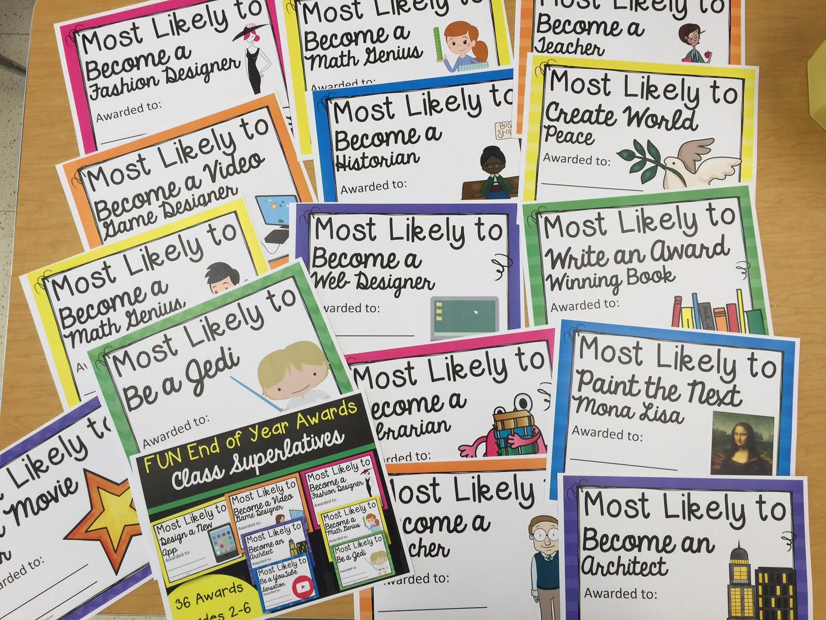Classroom Prize Ideas ~ Fun class awards to recognize outstanding student