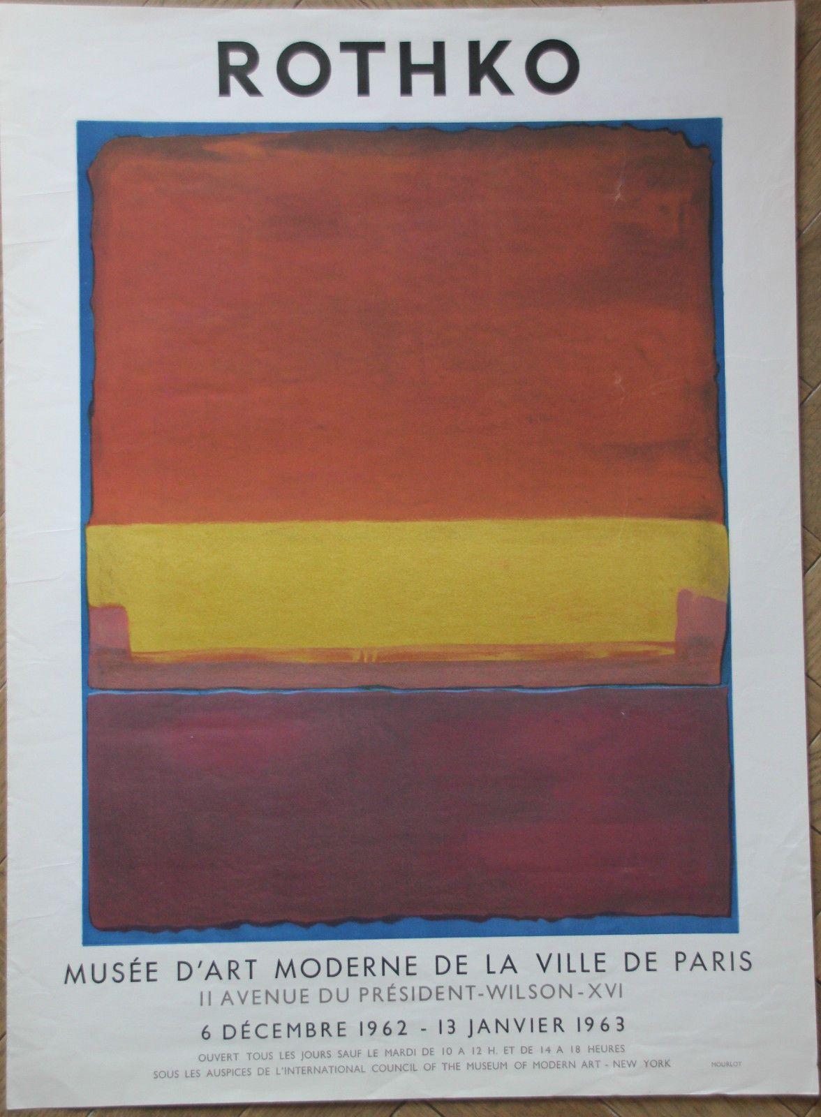 mark rothko rare affiche poster mus e d 39 art moderne. Black Bedroom Furniture Sets. Home Design Ideas