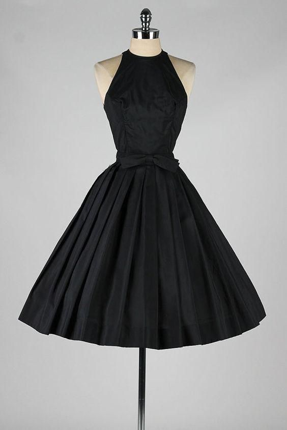 Black Vintage Prom Short Dresses Round Neck Pleated Skirt With Bow Sash A Line Princess Dress For Party Custom Made Maternity Prom Dresses Off The Shoulder Prom Dresses From Dressonline0603, $77.48| Dhgate.Com