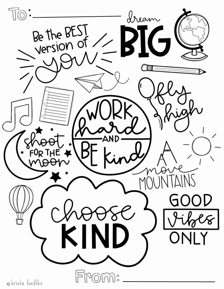 Motivational Coloring Pages for Kids in 2020 | Motivation ...