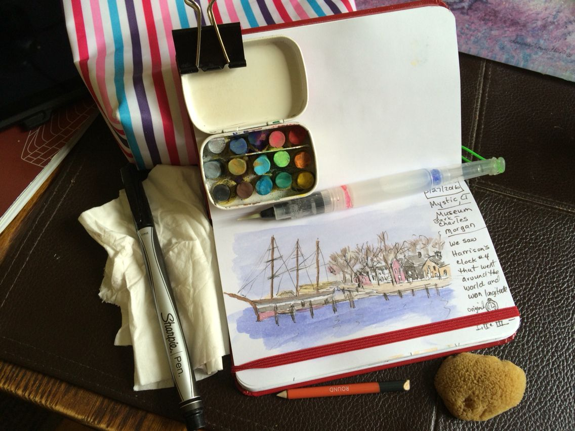 Small Watercolor Sketchbook Kit Altoids Smalls Tin Painted White