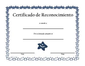 formatos para reconocimientos o diplomas