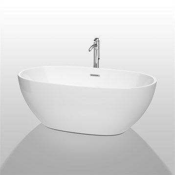 "$1229 63""   Juno 63"" Soaking Bathtub by Wyndham Collection - White at ModernBathroom.com. Get free shipping and factory-direct savings on Juno 63"" Soaking Bathtub by Wyndham Collection - White."