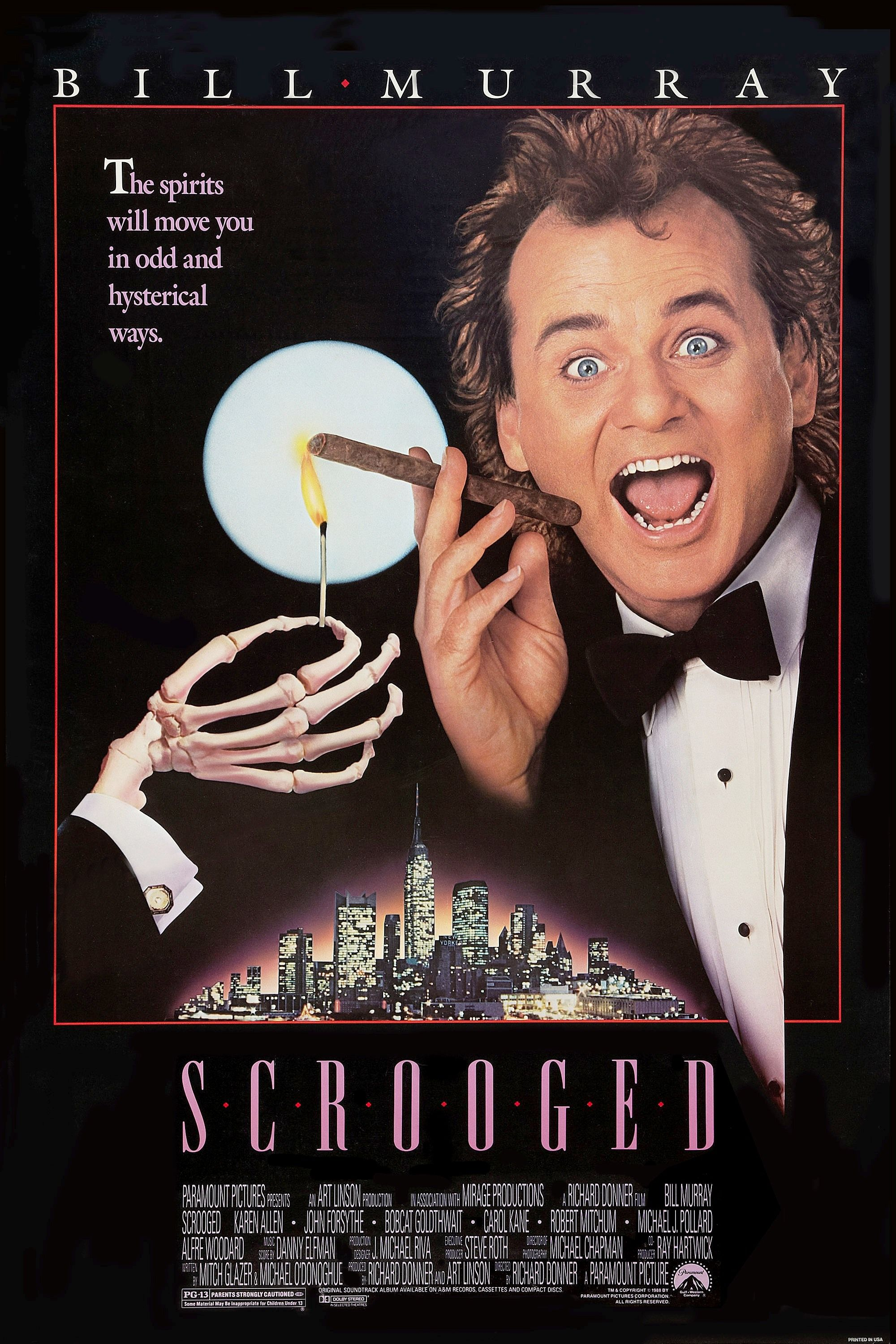 Scrooged Movie Poster 1988 Christmas Movies Best Christmas Movies Great Christmas Movies