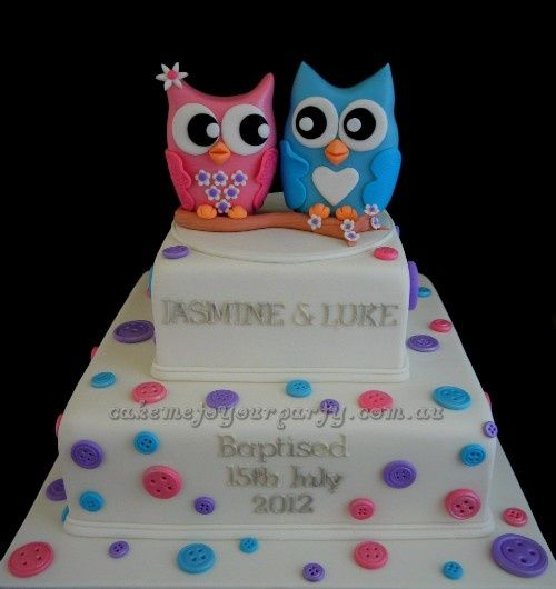 twin baptism cakes Birthday Cake for Twins Boy and Girl New