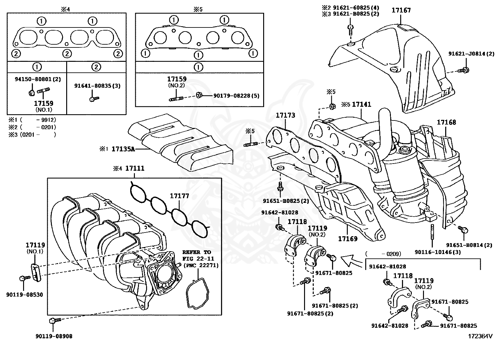 Genuine Manifold Oem Parts For The Toyota