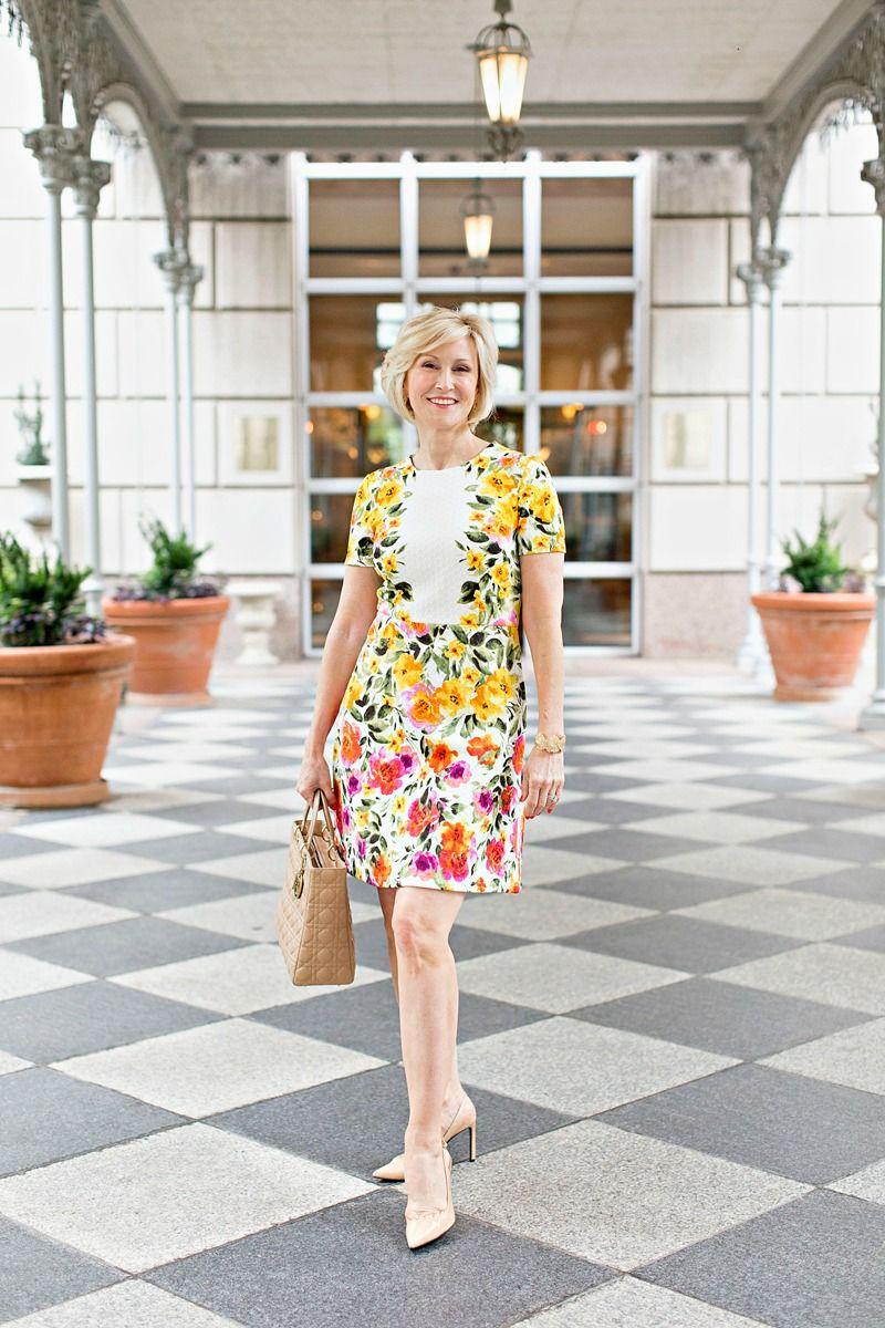 Cheery Yellow Floral Summer Dress Fabulous After 40 Yellow Dress Summer Yellow Floral Summer Dress Yellow Evening Dresses [ 1200 x 800 Pixel ]