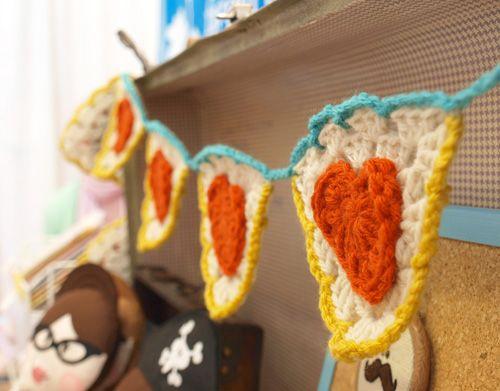 crochet banner!  How fun!