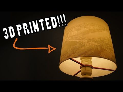 9870 3d Printed Lithophane Lamp Shade Custom Diy Design Youtube Lamp Diy Design Lamp Shade