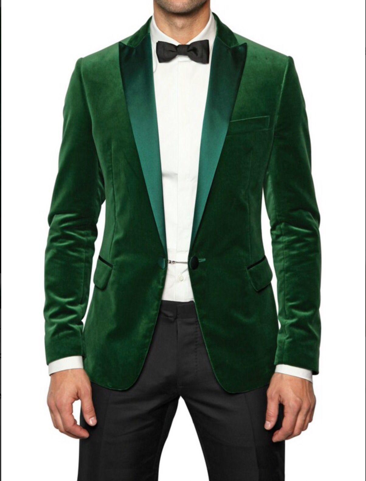 Suede green jacket for weeding Green velvet blazer