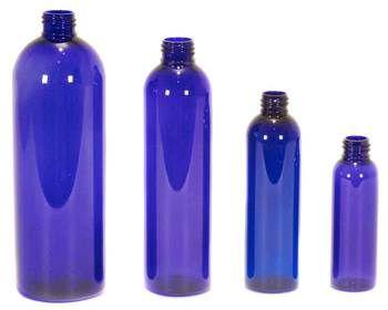 Plastic Cobalt Blue Bullet Cosmo Round Bottles Bottle Plastic Bottles Linen Spray