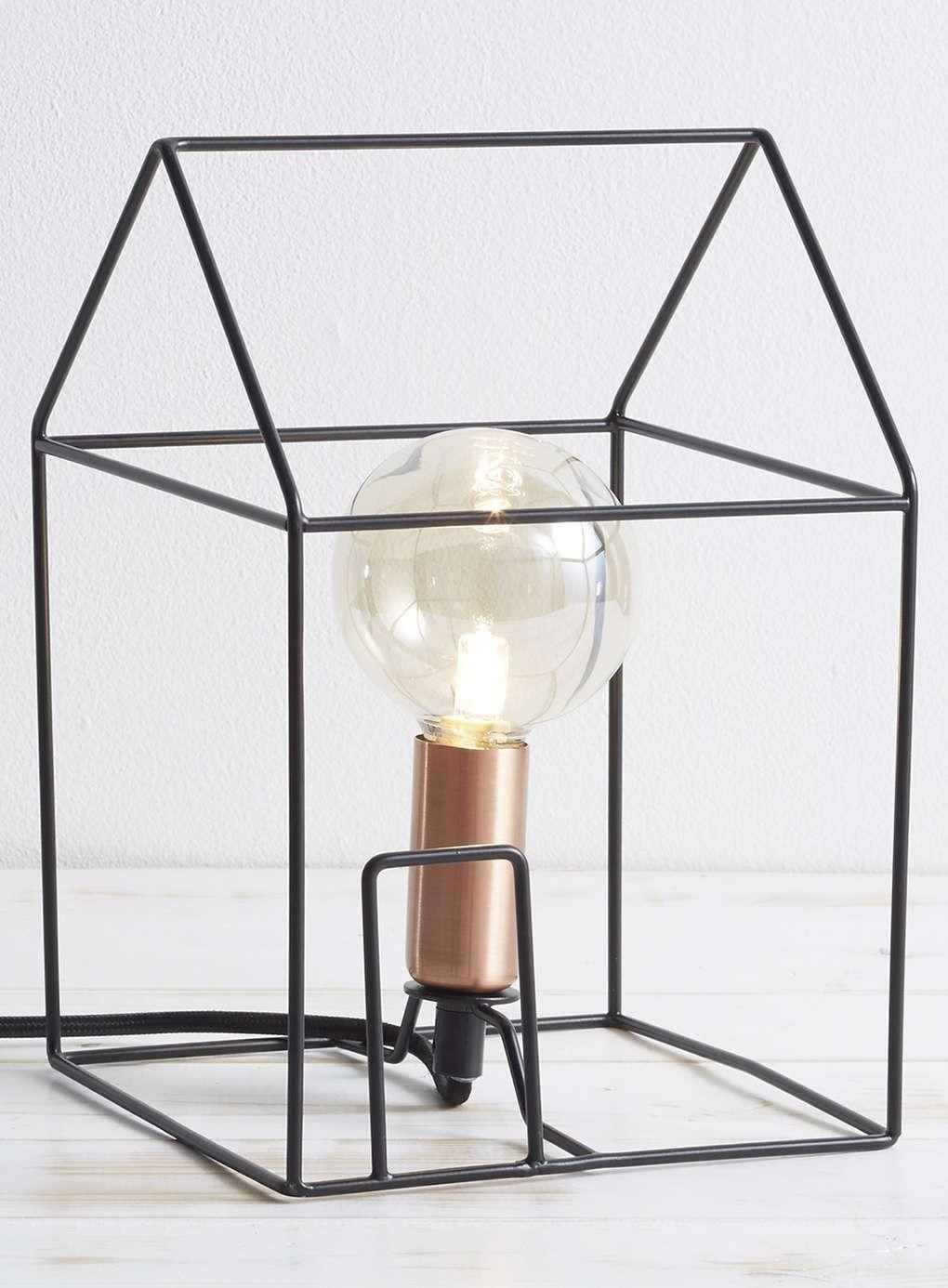 House Outline Table Lamp, Black - BHS   house   Pinterest   Black ...
