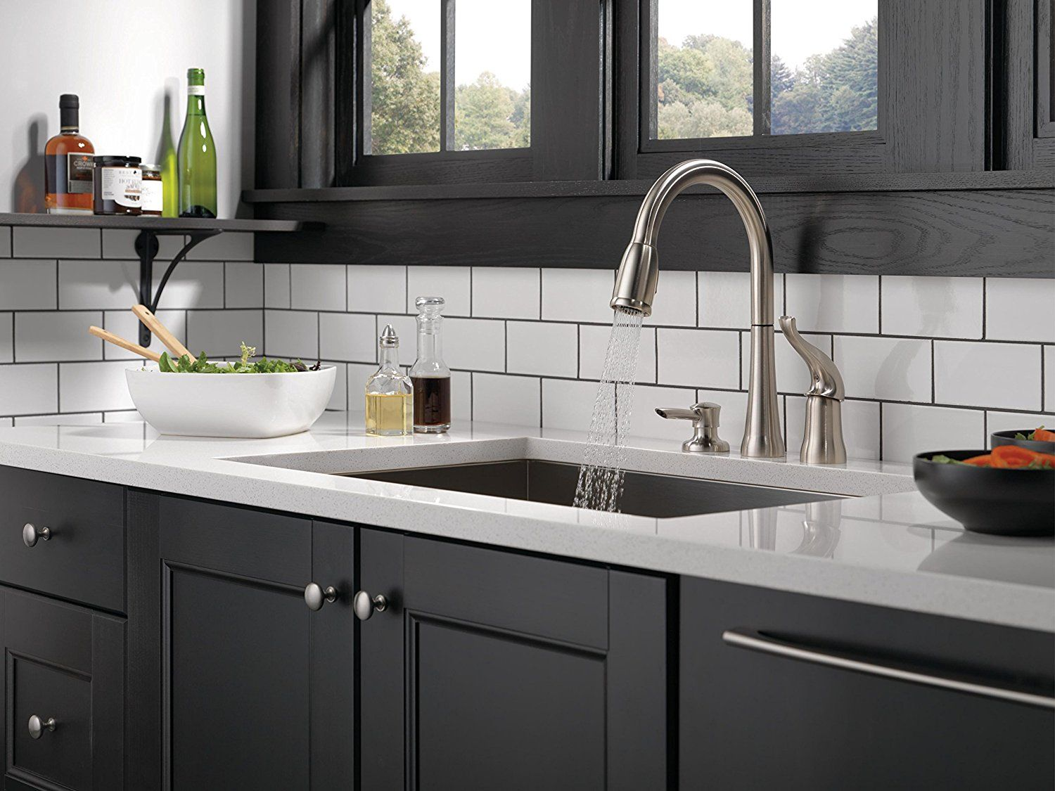 Delta Kate Single Handle Kitchen Pull Down Faucet With Magnetic