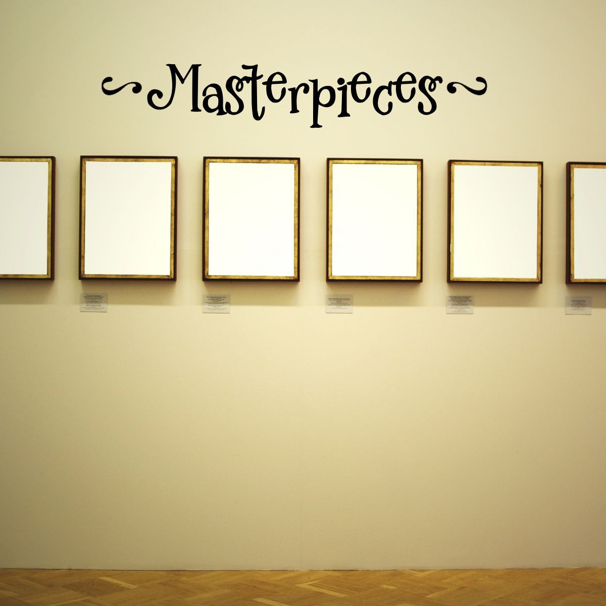 masterpiece wall decal | masterpieces overstock wall quotes decal ...