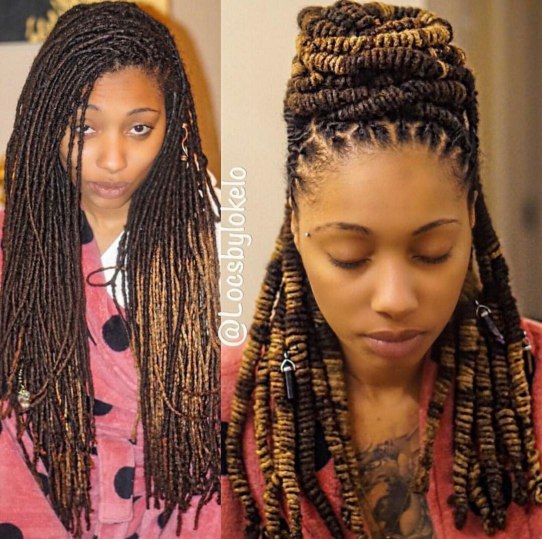 Latest Jamaican Hair Style: Like The Size Of Her Locs And Texture