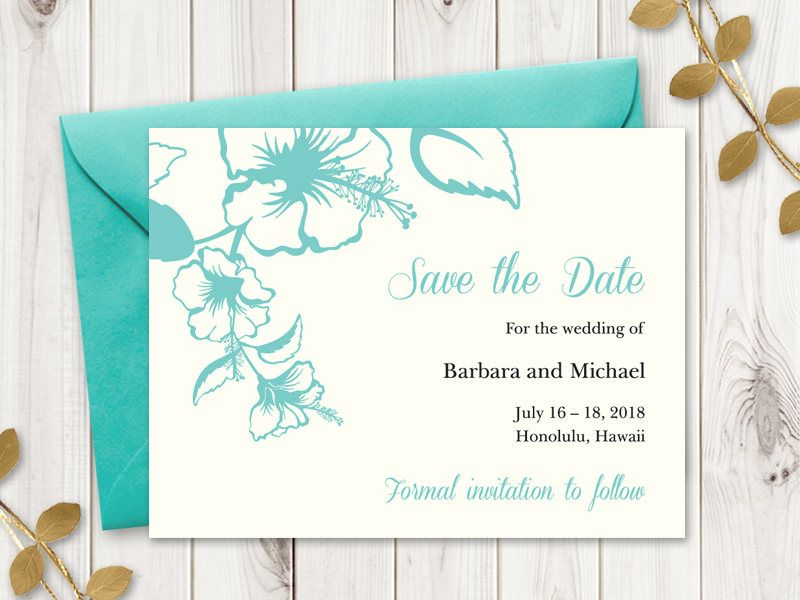 Printable Save the Date Card. DIY Wedding Save the Date Card ...