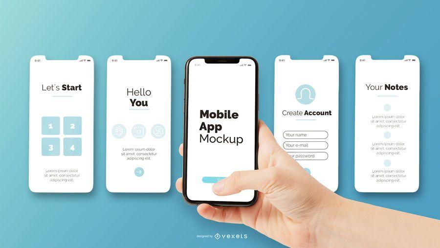 Mobile App Mockup Ad Mobile Mockup App Mobile App Business Card Mock Up Mockup