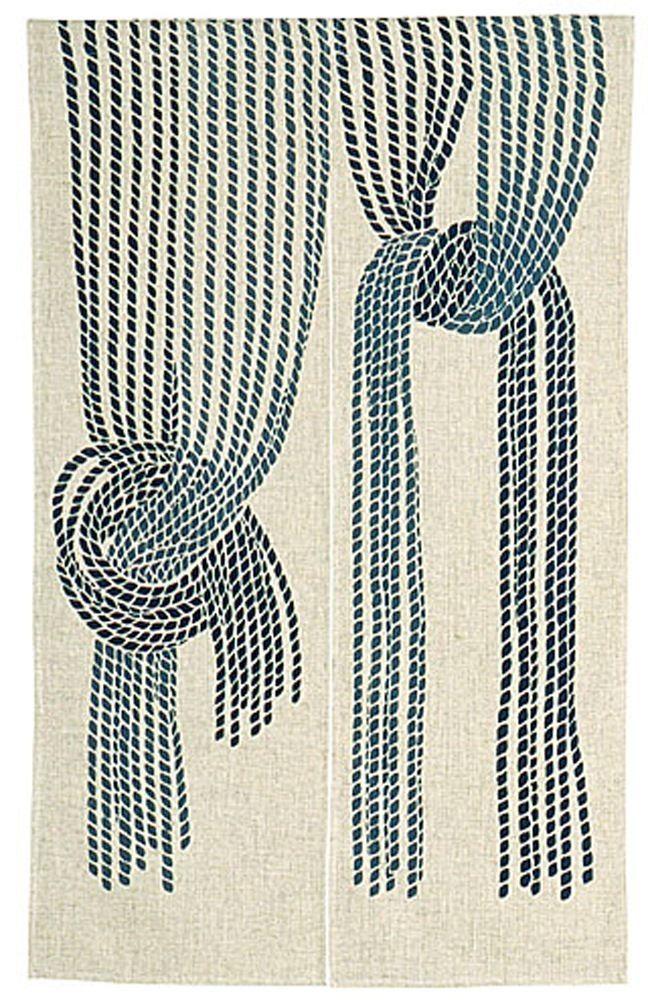 japanese noren curtain traditional nawa rope design ファブリック 文様 さしこ 図案