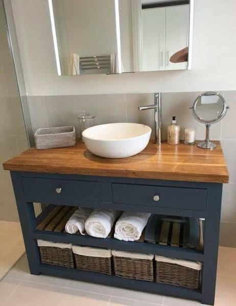 Diy Bathroom Vanity Muebles Para Baños Pequeños Muebles De Baño Diseño De Baños