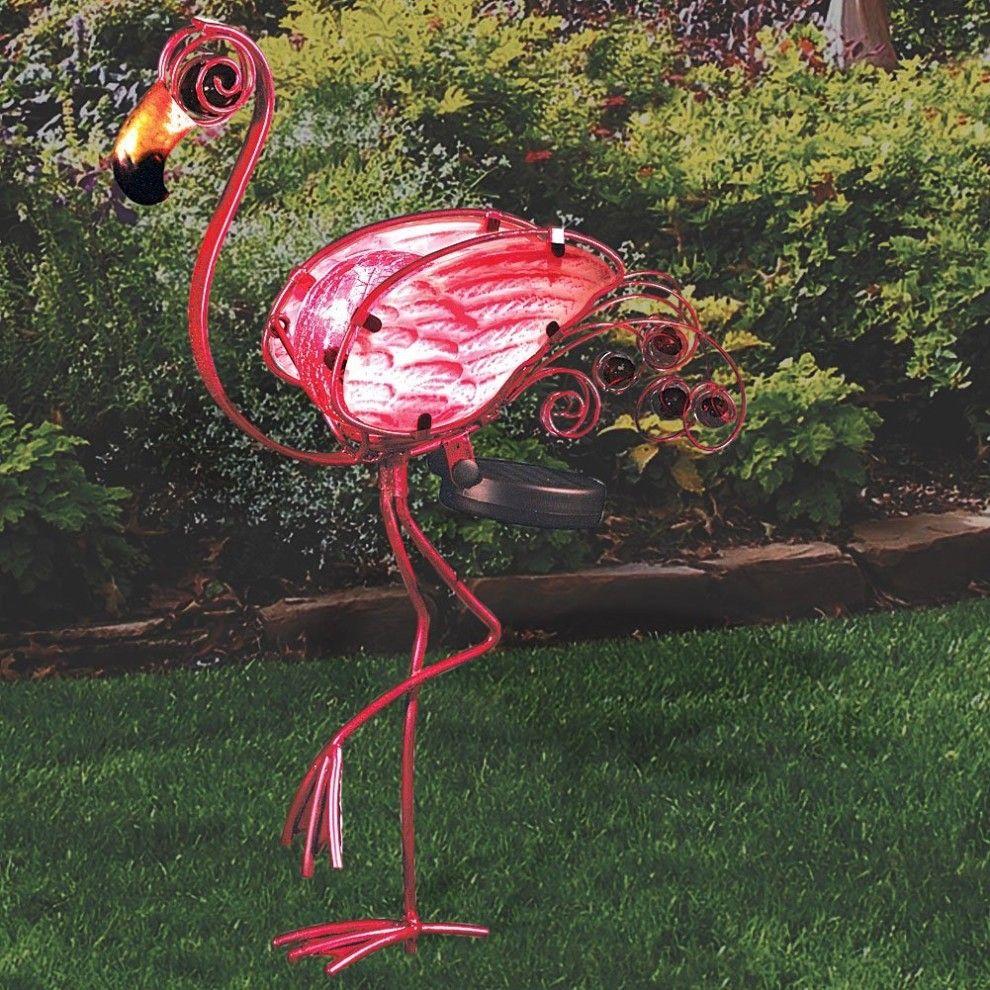 solar powered pink flamingo Google Search Solar lights