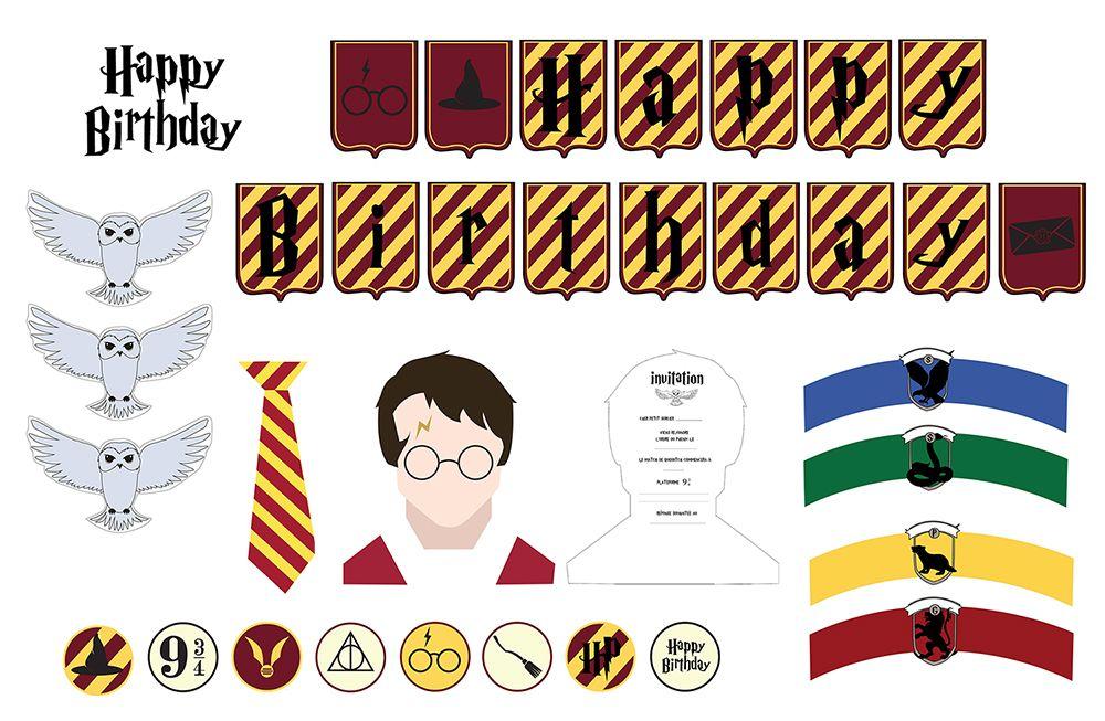 Déco gratuite à imprimer pour un anniversaire Harry Potter