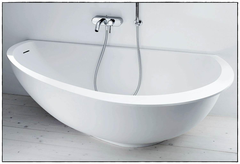 Badewanne Halb Freistehend – Wohn-design