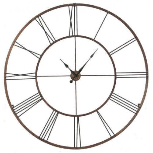 Roman Numeral Clock @ colomandbrit.com, oversized wall clock, gold wall clock with roman numerals, big wall clock